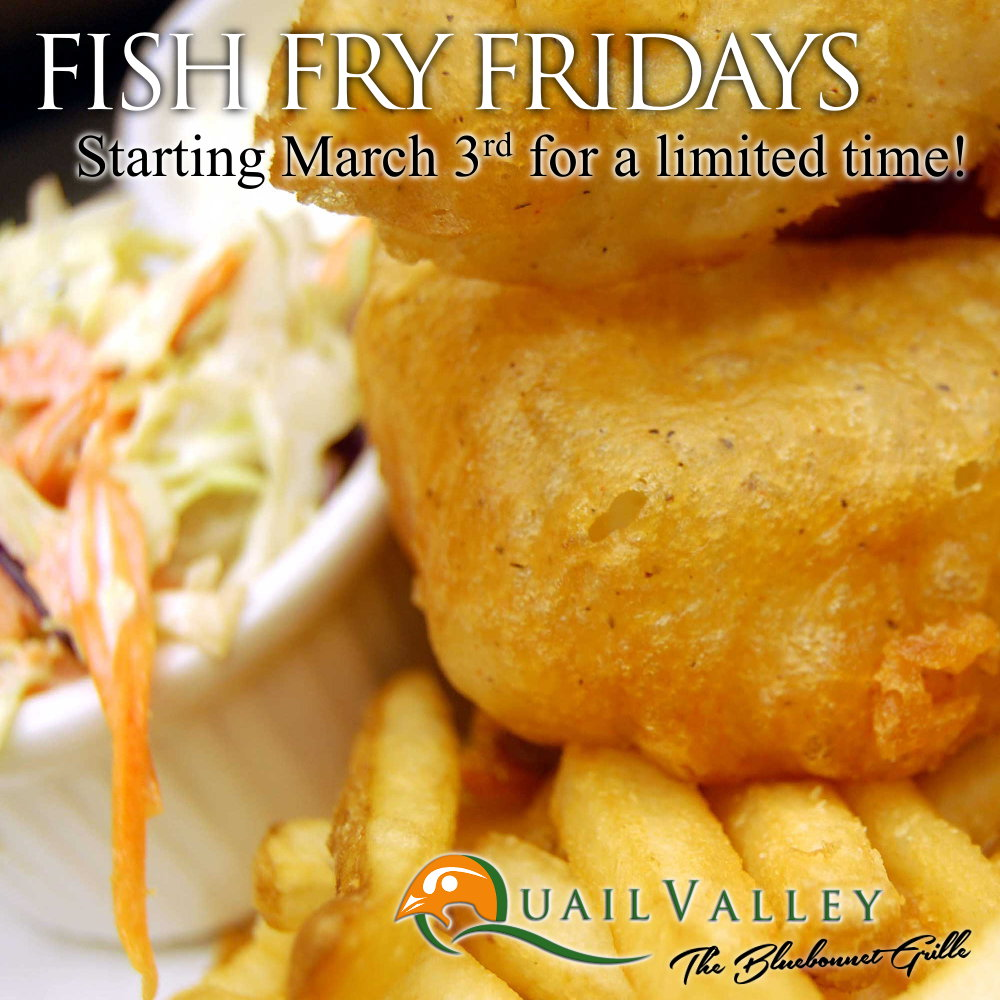 Fish Fry Fridays at The Bluebonnet Grille