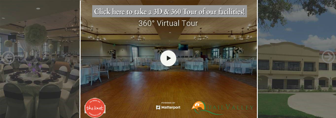 Quail Valley Wedding Venue Virtual Tour